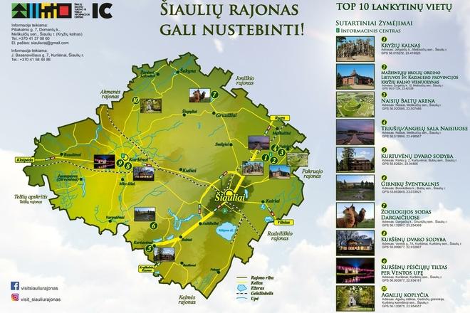 TOP 10 Šiaulių rajono lankytinų vietų