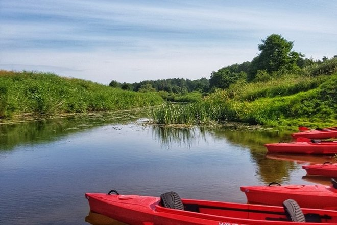 Каноэ по реке Вента