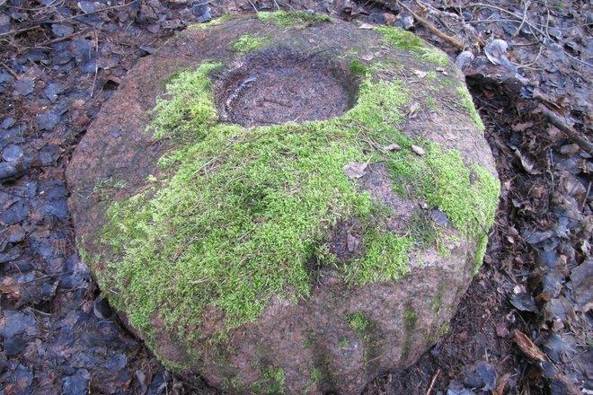 Pašvinė stone with a bowl